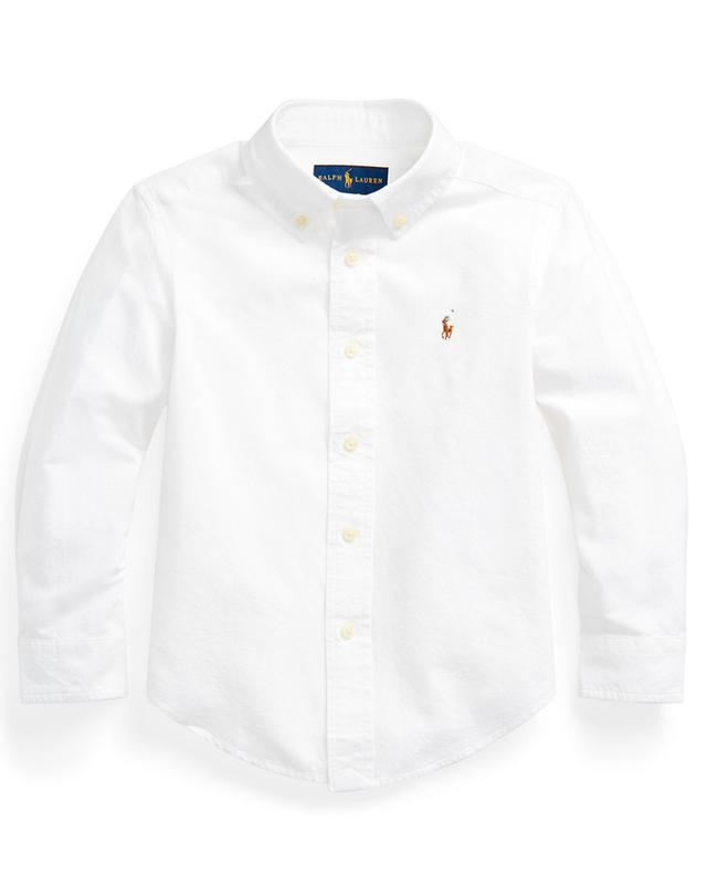 Pony embroidered cotton blend shirt POLO RALPH LAUREN