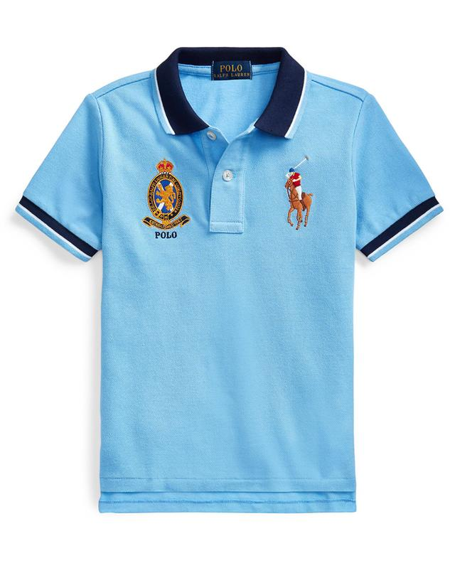 Big Pony and Crest embroidered bicolour polo shirt POLO RALPH LAUREN