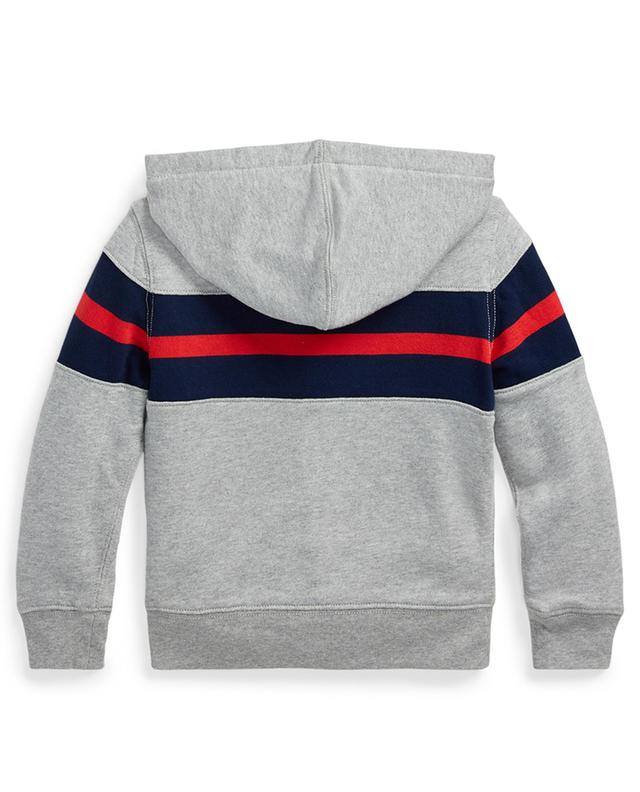 Stripe and logo adorned hooded sweat jacket POLO RALPH LAUREN