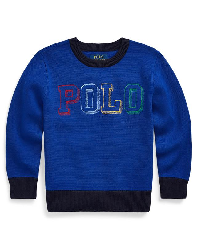 Sketch effect logo print cotton jumper POLO RALPH LAUREN