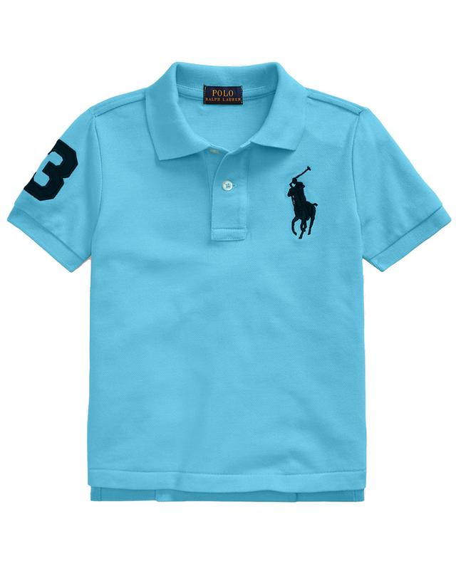 Big Pony and 3 embroidered cotton piqué polo shirt POLO RALPH LAUREN