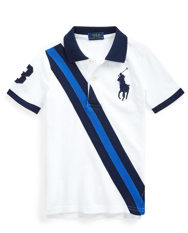 Polo orné d'une rayure diagonale Big Pony POLO RALPH LAUREN