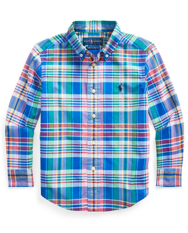 Pony embroidered plaid shirt in poplin POLO RALPH LAUREN
