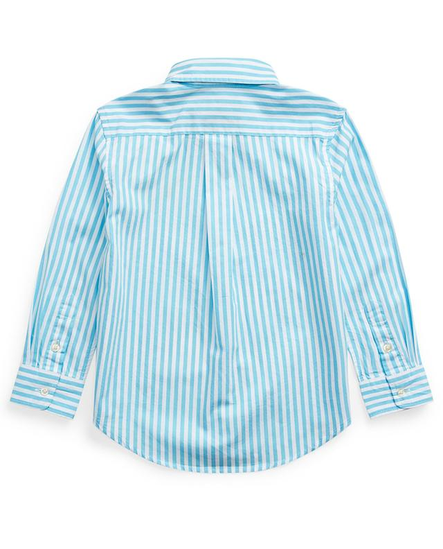 Pony embroidered striped poplin shirt POLO RALPH LAUREN