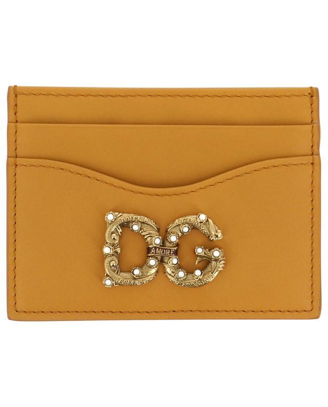 Porte-cartes en cuir de veau DG AMORE DOLCE & GABBANA