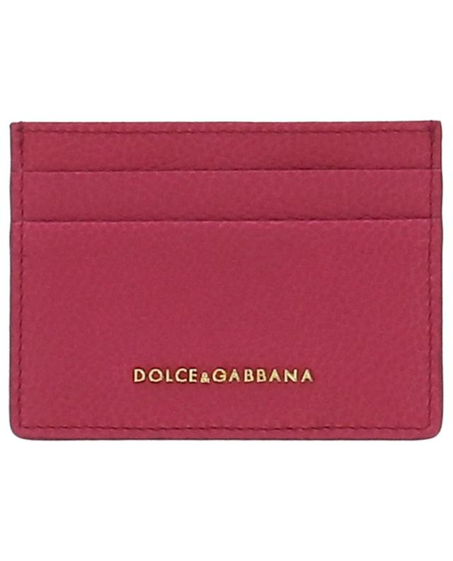 Porte-cartes en cuir grainé avec logo DOLCE & GABBANA
