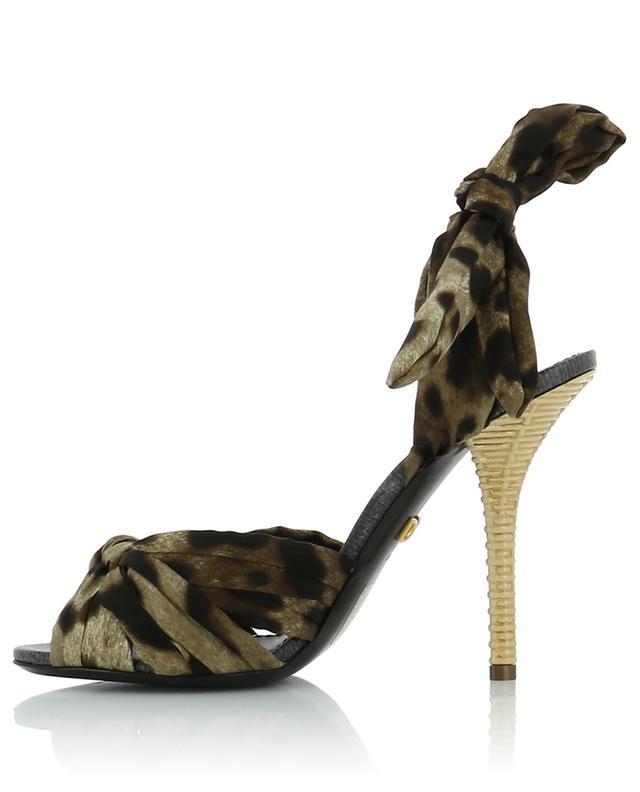 Sandales en sergé de soie imprimé léopard Keira DOLCE & GABBANA