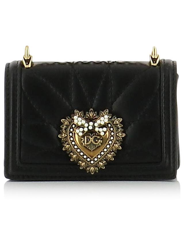 Micro sac porté épaule en cuir matelassé Devotion DOLCE & GABBANA