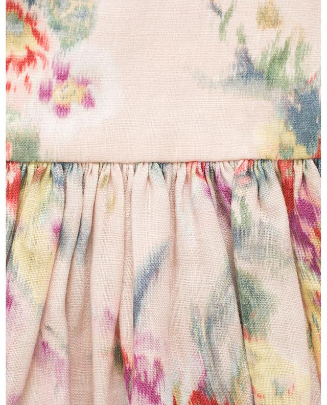 Minijupe en lin imprimé fleuri Wavelength ZIMMERMANN