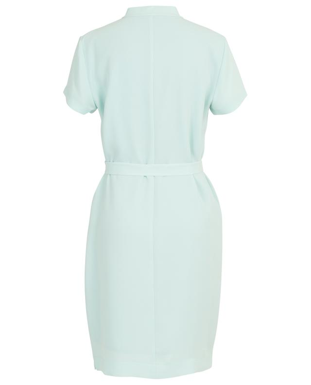 Crepe straight dress with belt WINDSOR