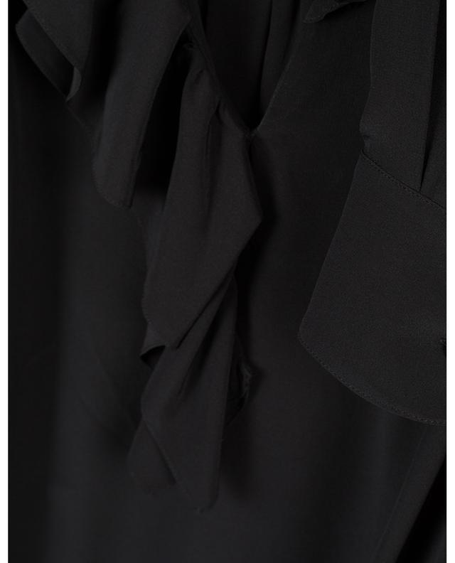 Robe large en soie à volants VICTORIA BECKHAM