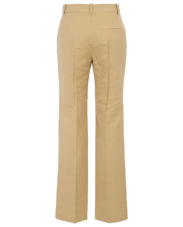 Pantalon à pinces en lin et coton VICTORIA BECKHAM