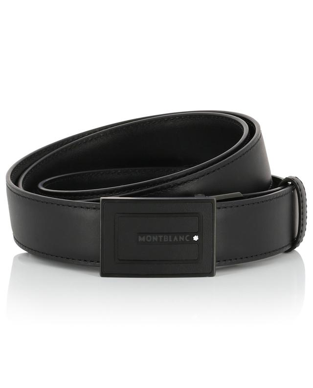 Leather belt with black rectangular buckle MONTBLANC