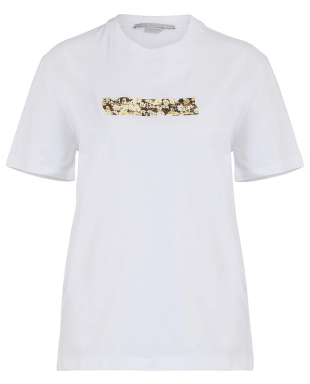 Cotton T-shirt  with floral application STELLA MCCARTNEY