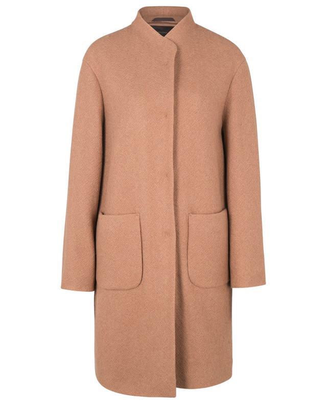Manteau court léger en maille alpaga WINDSOR