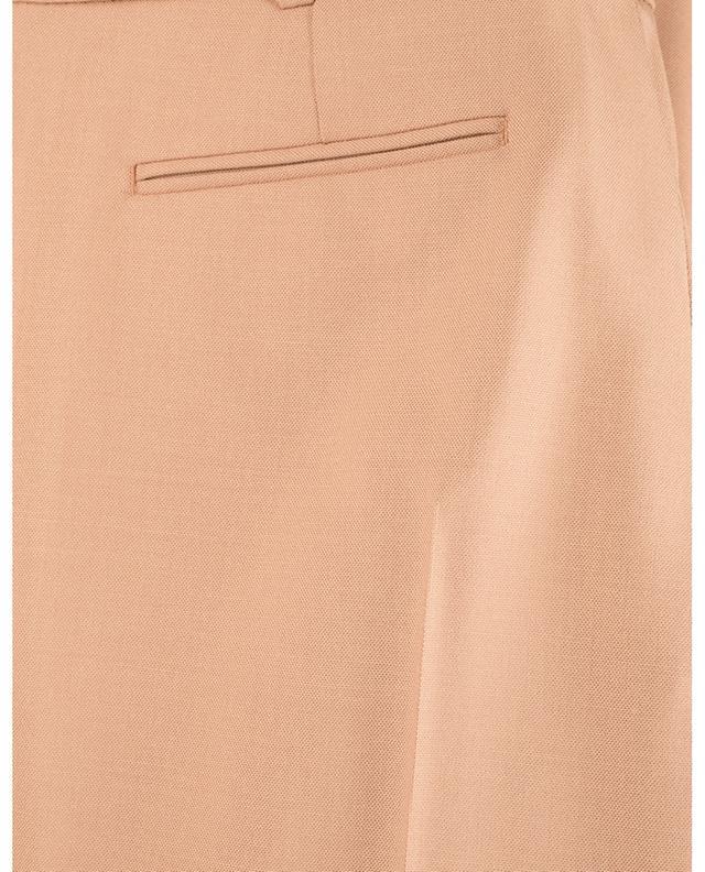 Pantalon slim en laine vierge texture piquée WINDSOR