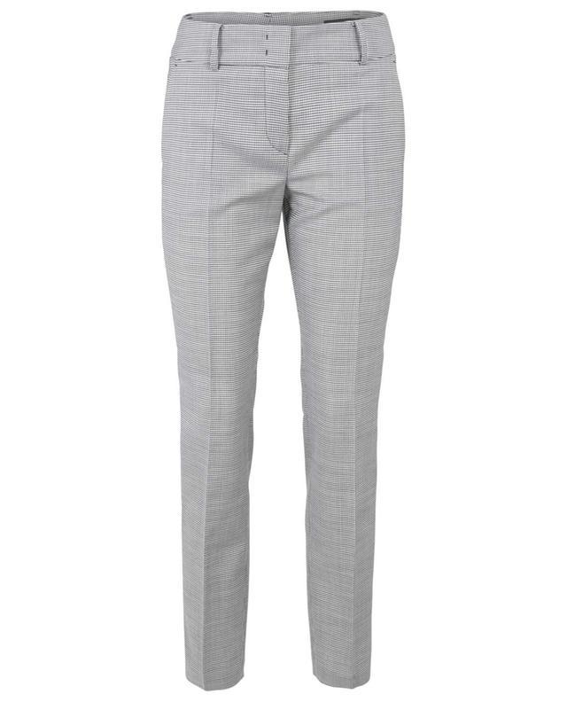 Pantalon slim en laine vierge motif pied-de-poule WINDSOR