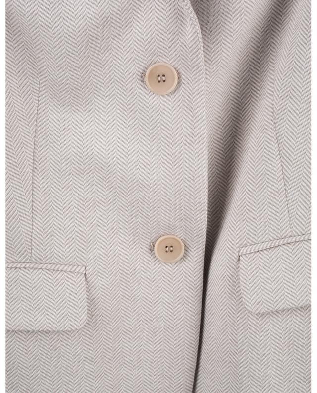 Blazer cintré en jersey motif chevrons WINDSOR