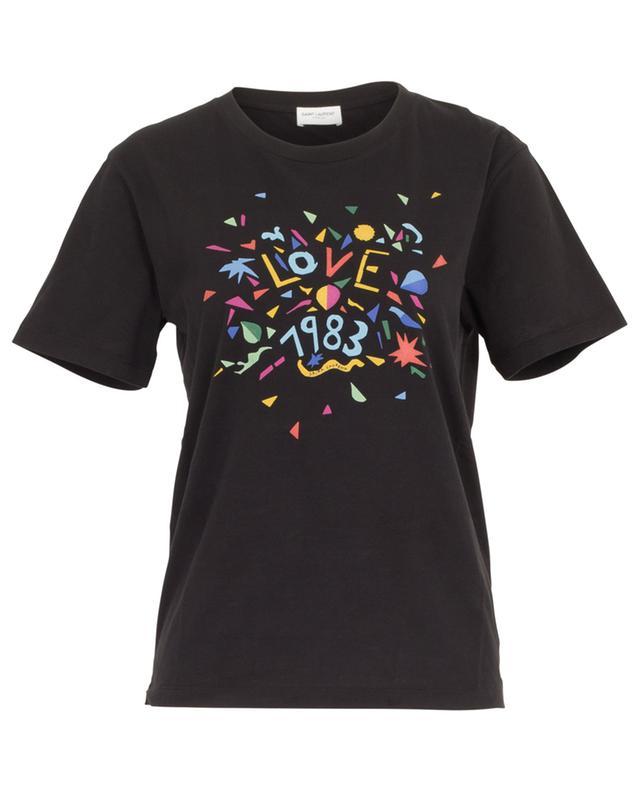 T-shirt en coton imprimé Love 1983 SAINT LAURENT PARIS