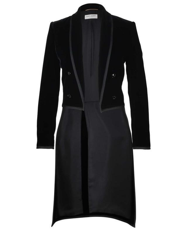 Longue veste tailleur en viscose mélangée SAINT LAURENT PARIS