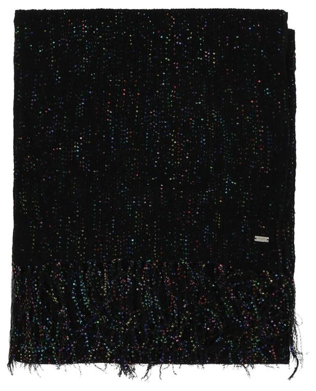 Glitter cashmere and silk blend scarf SAINT LAURENT PARIS