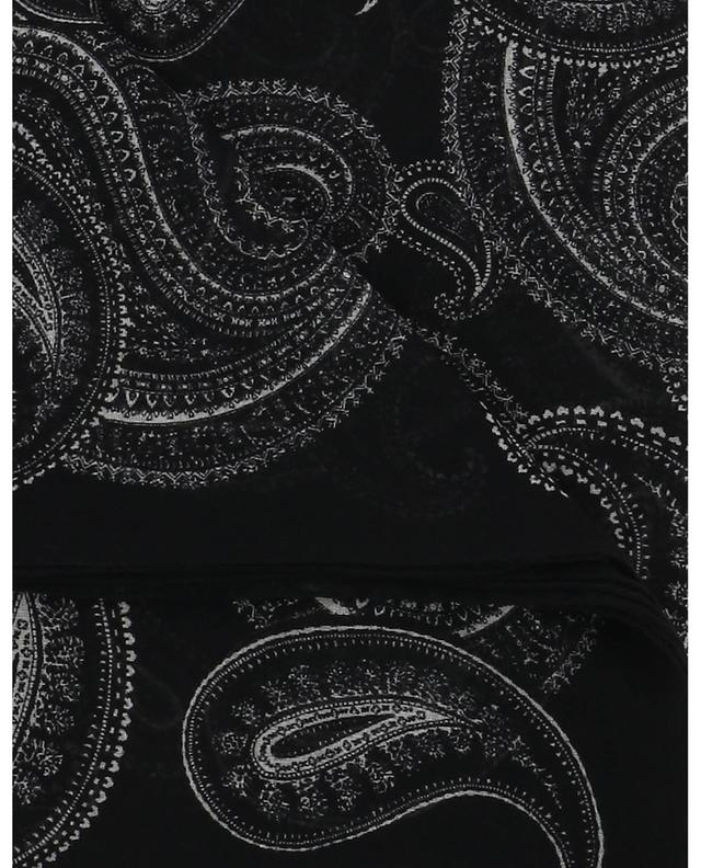 Paisley bandana large square wool shawl SAINT LAURENT PARIS