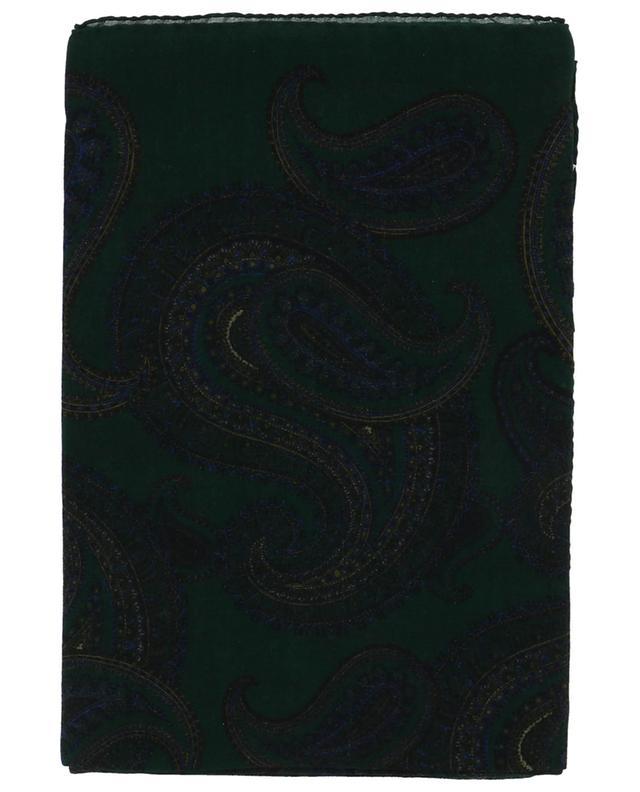 Quadratisches Halstuch aus Wolle Bandana Paisley SAINT LAURENT PARIS