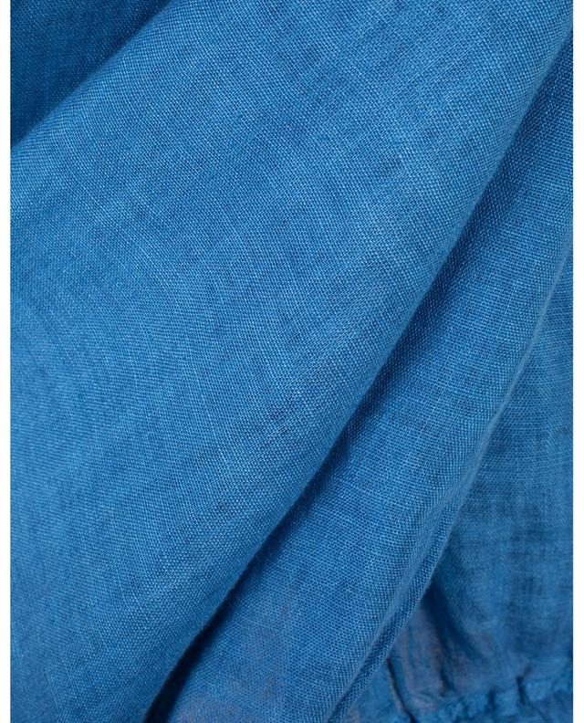 Straight high-waist linen trousers 120% LINO