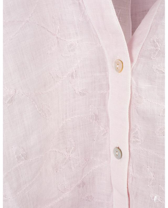 Besticktes Hemd aus Leinen 120% LINO
