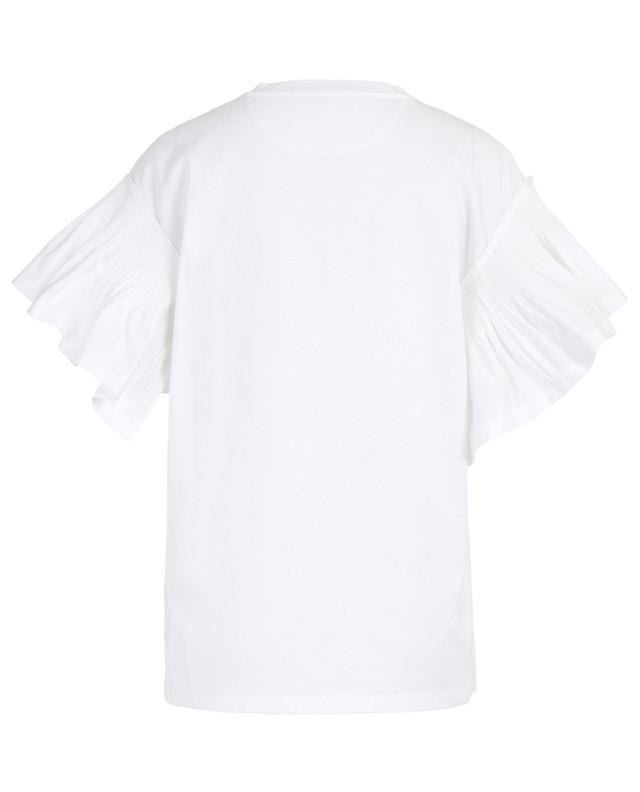 T-shirt en coton avec volant plissé VALENTINO