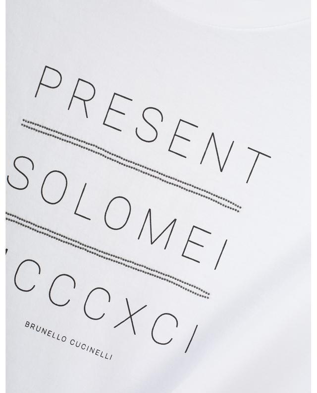 T-shirt en coton imprimé BRUNELLO CUCINELLI
