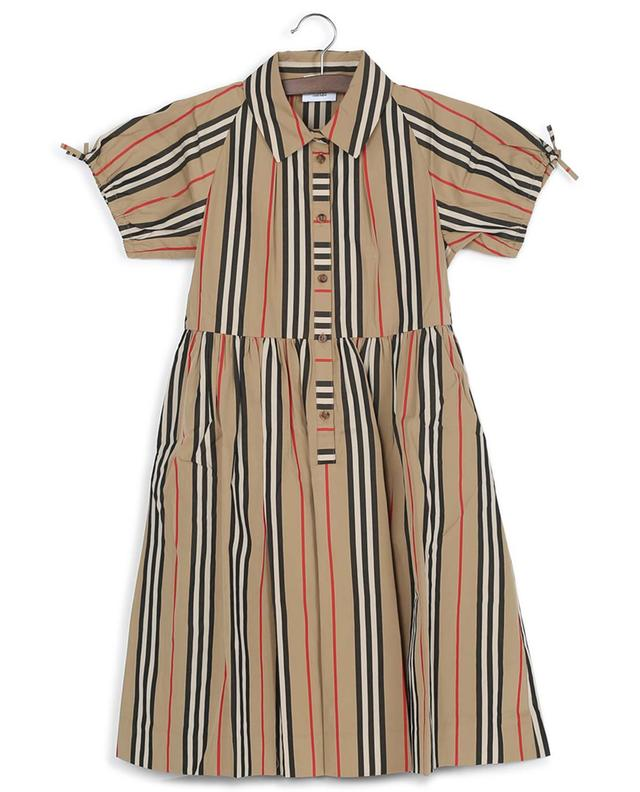 Josephine Icon Stripe short sleeve dress BURBERRY