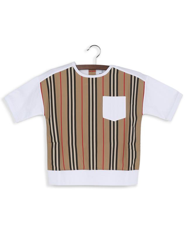 T-shirt à boutons et rayures Icon Aisha BURBERRY