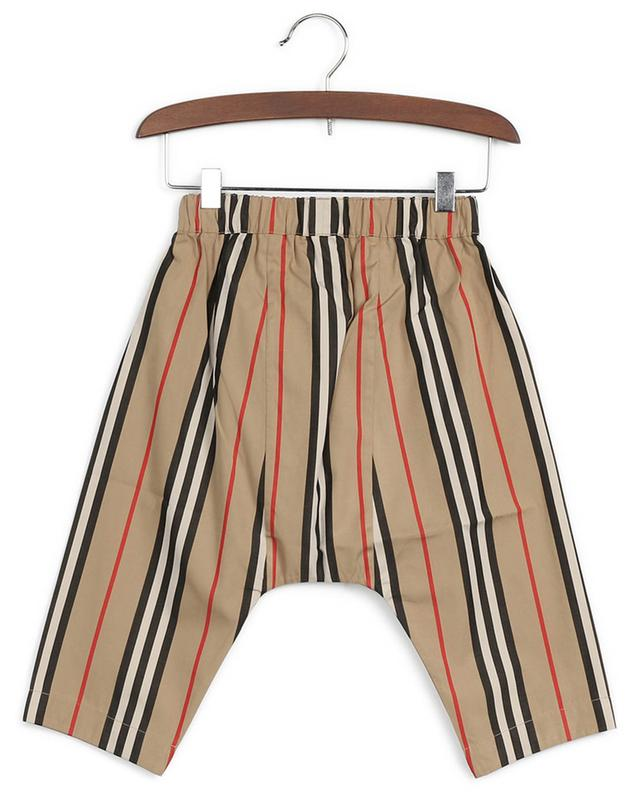 Pantalon en coton Burberry Check BURBERRY