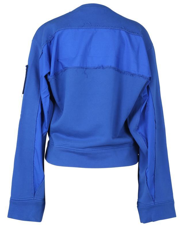 Sweat-shirt boxy à col rond Logo Appliqué N°21