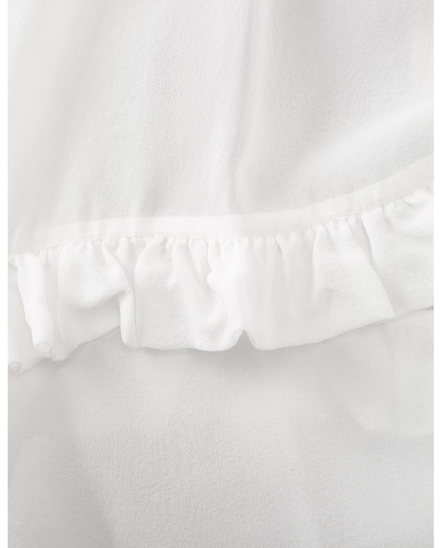 Blouse oversize en mousseline de soie à volants N°21