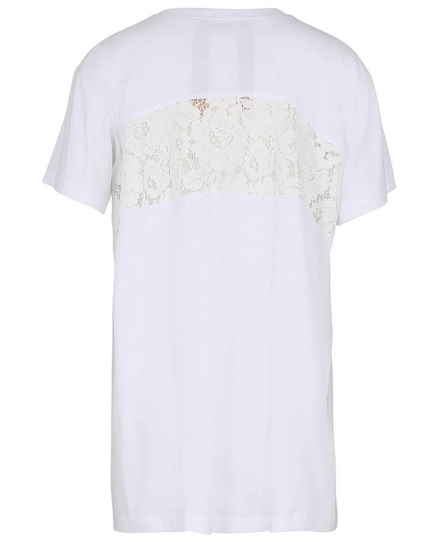 T-shirt en coton perforé orné de dentelle N°21