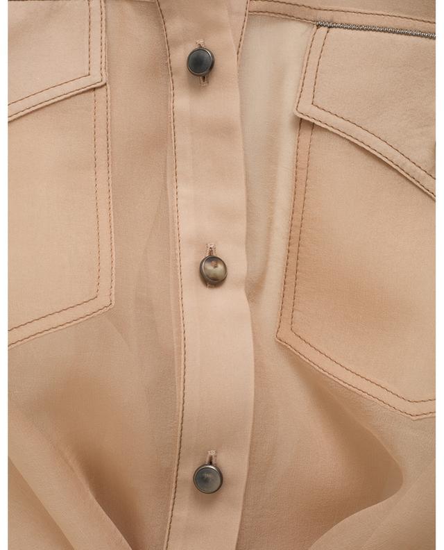 Robe saharienne en organza transparente BRUNELLO CUCINELLI