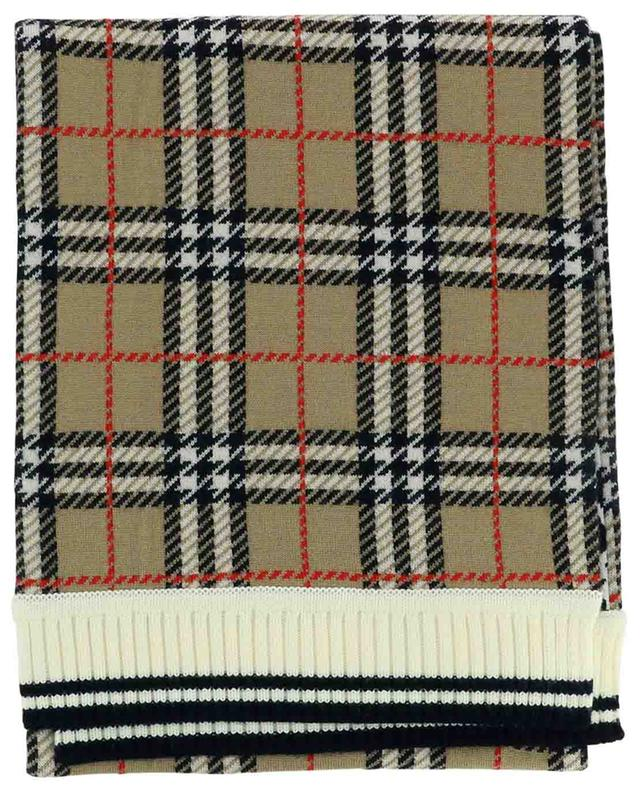 Reversible House Check and leopard jacquard scarf BURBERRY
