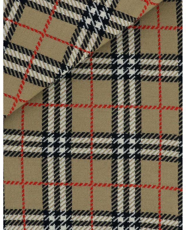 Wendbarer Jacquard-Schal mit Leo- und House Check-Motiven BURBERRY