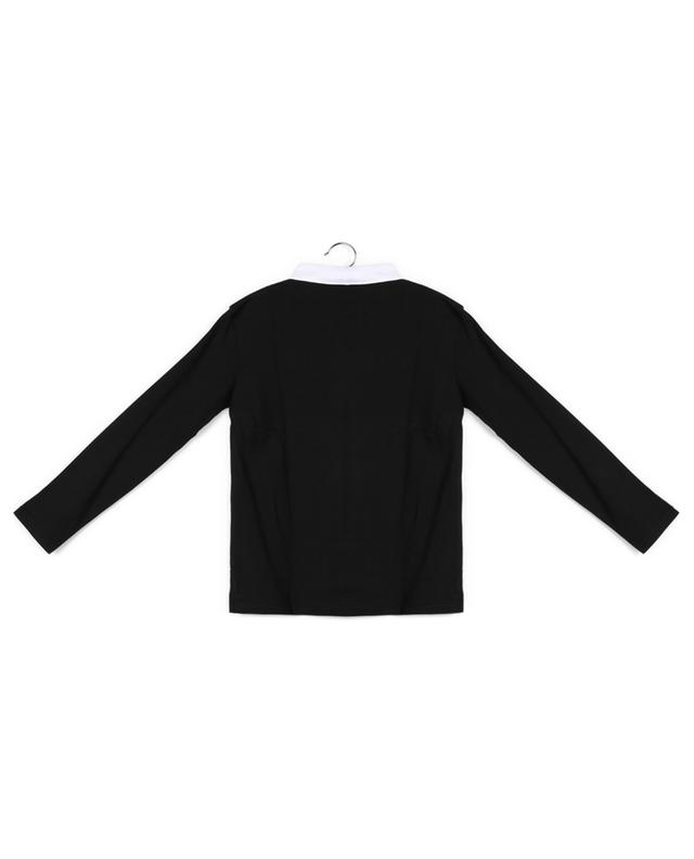 Long-sleeve polo shirt with various patterns BURBERRY