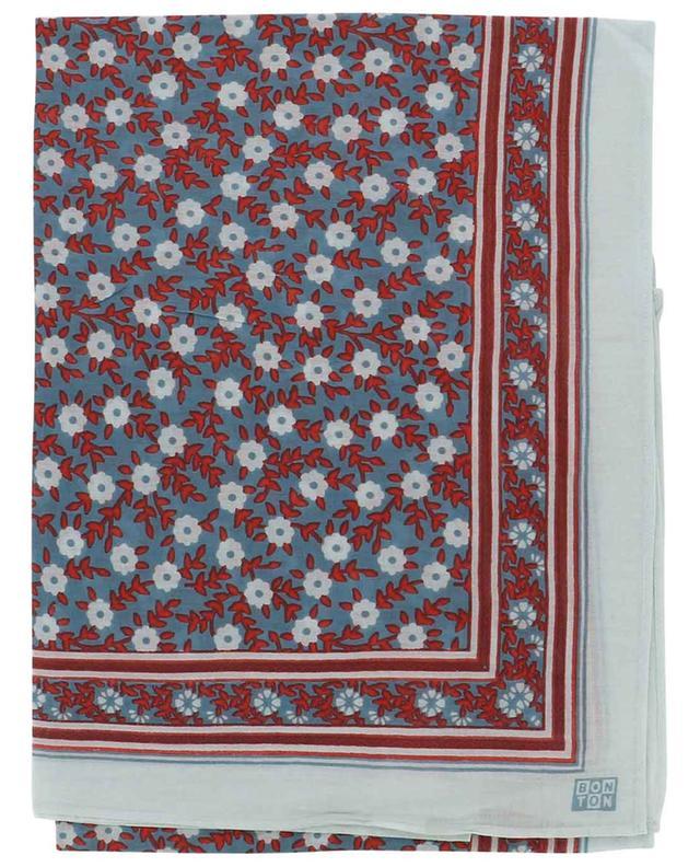 Foulard en coton imprimé Foulfleur BONTON