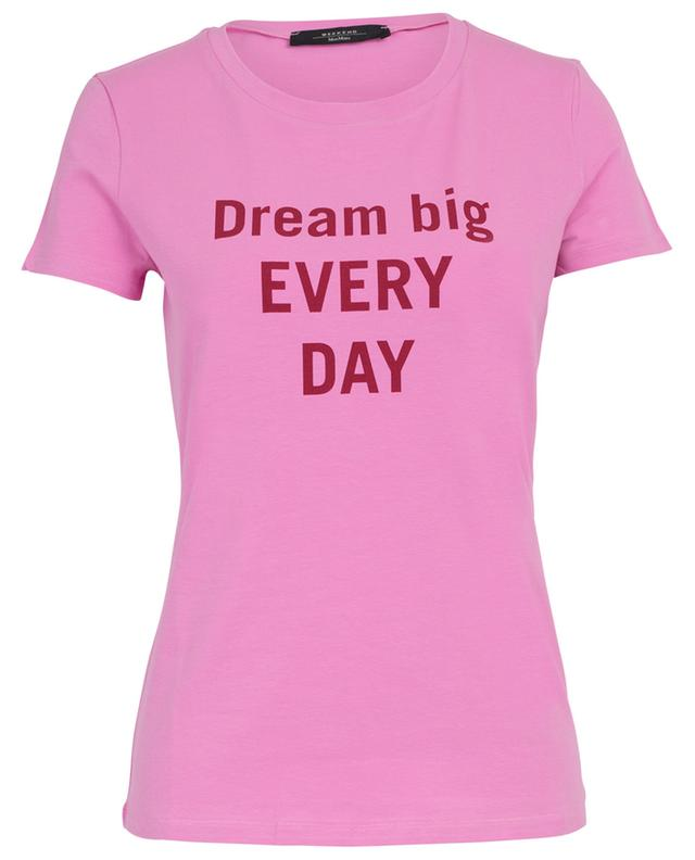T-shirt rose en coton mélangé imprimé Falla WEEKEND MAXMARA