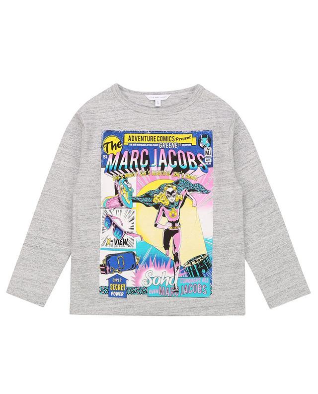 T-shirt à manches longues imprimé pailleté Rainbow THE MARC JACOBS