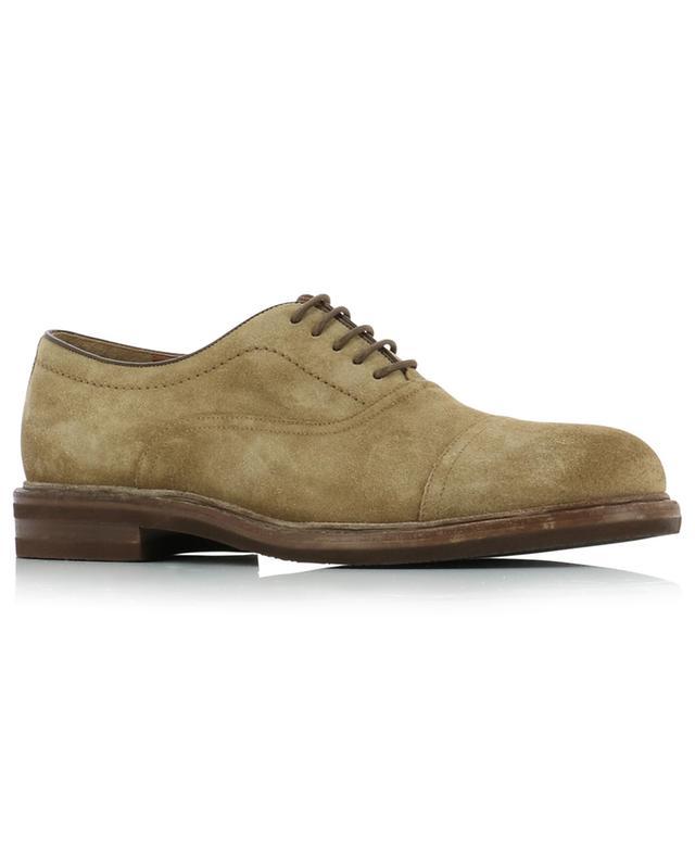 Chaussures Oxford à lacets en daim huilé BRUNELLO CUCINELLI