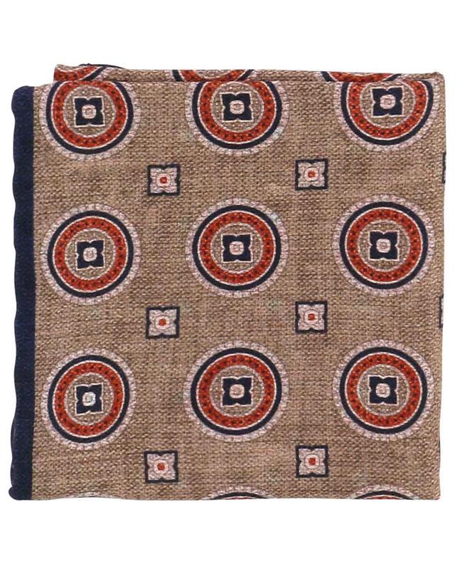 Pochette en soie réversible motifs géométriques BRUNELLO CUCINELLI