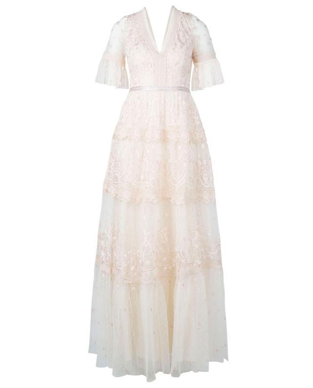 Robe longue en dentelle fleurie Midsummer NEEDLE &THREAD