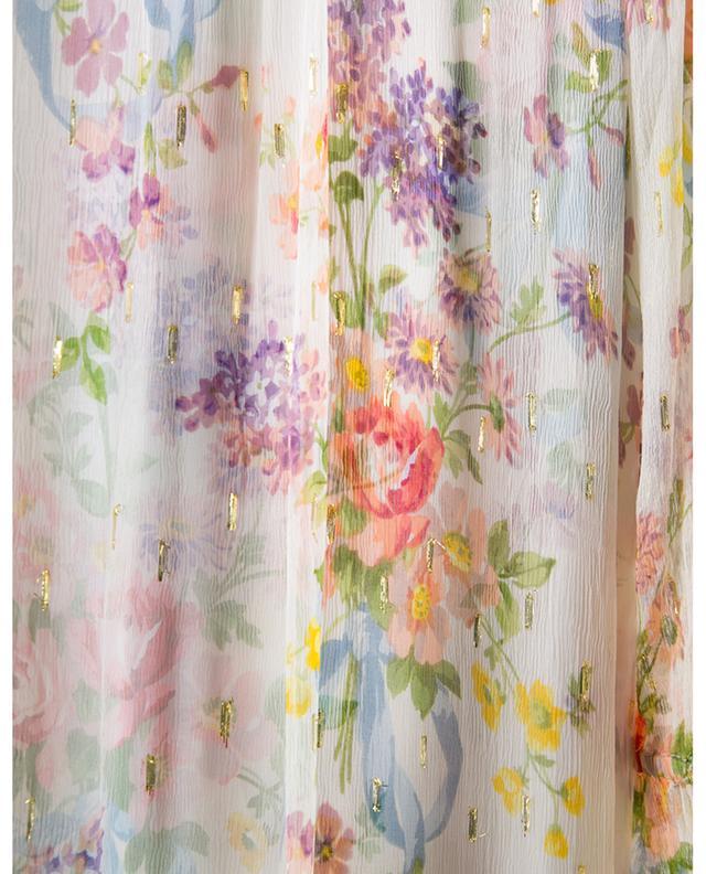 Robe longue fleurie en mousseline Floral Diamond Gown NEEDLE &THREAD