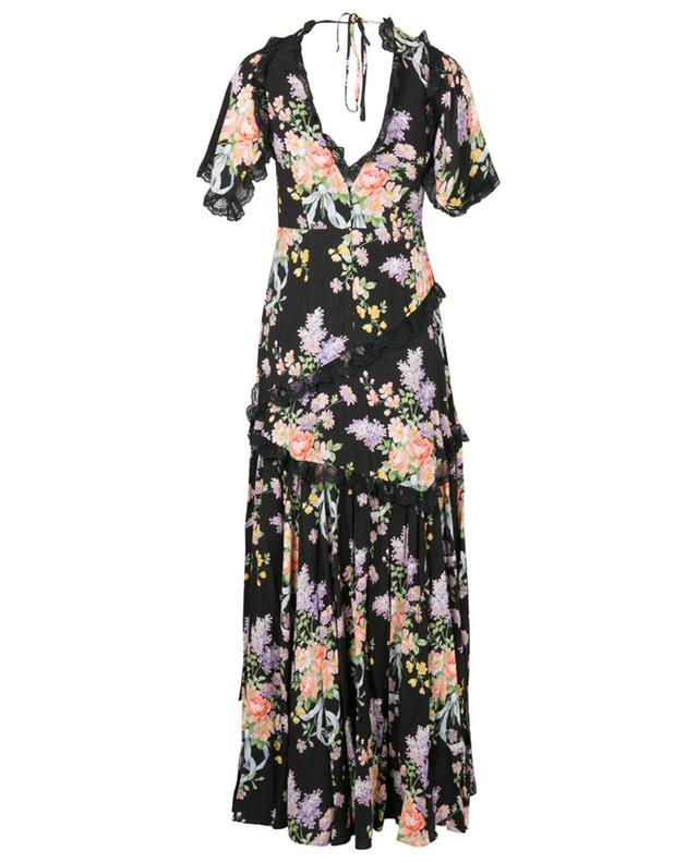 Floral Diamond Elsa long V-neck floral dress NEEDLE &THREAD