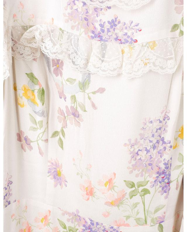 Robe en viscose à volants et fleurs Elsa NEEDLE &THREAD